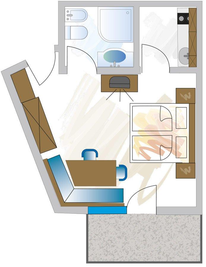 Grundriss Appartement A