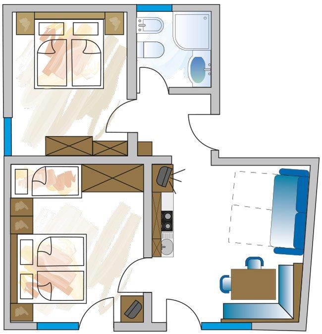 Grundriss Appartement C