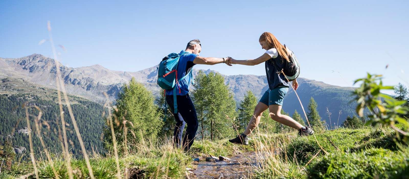 Hiking on Mount Gitsch and around Maranza